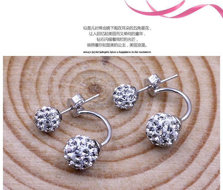 11586-15fb310f25d674be8fa155c5748a9a7f 2016 Silver Crystal Ball Push Back Earring Jewelry