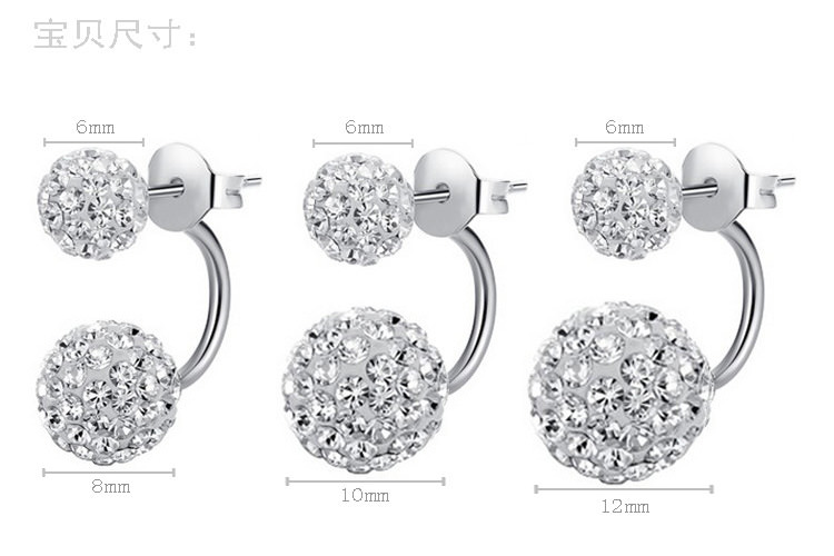 11586-3a55790fff7ff3bb018d9566eb29eafd Silver Crystal Ball Push Back Earring Jewelry