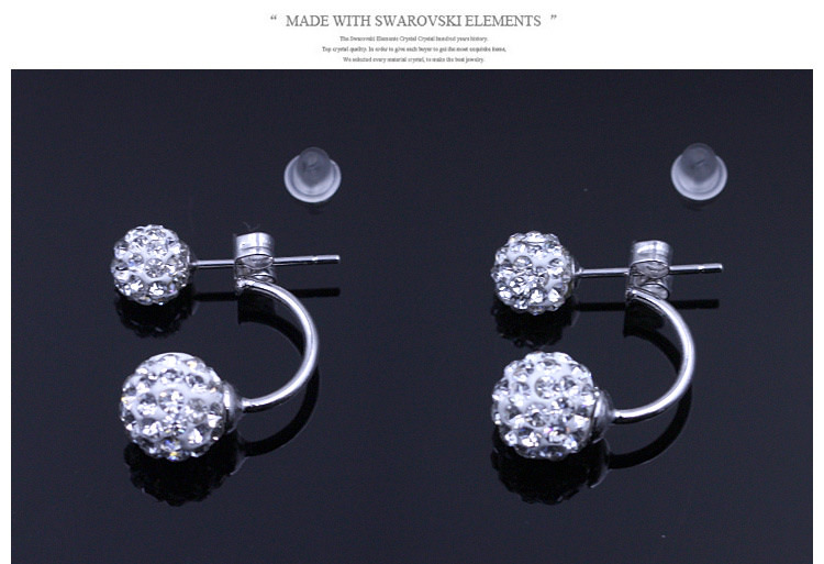 11586-6243b5d1d8db79b0c6a00c623989cd9d Silver Crystal Ball Push Back Earring Jewelry