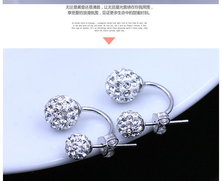 11586-6d108f0cdcd6d2a9c65fb7f13ae59bac 2016 Silver Crystal Ball Push Back Earring Jewelry
