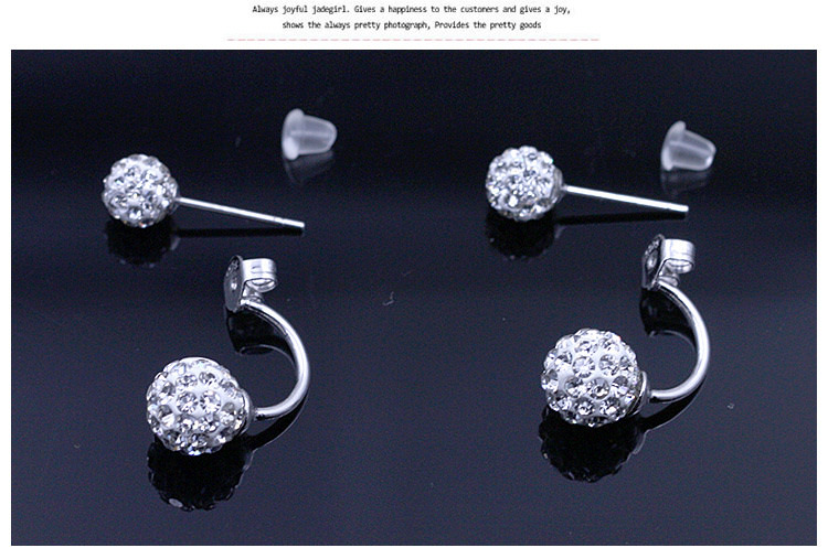 11586-6d4f816ec43db06728ac27e04de2b470 2016 Silver Crystal Ball Push Back Earring Jewelry