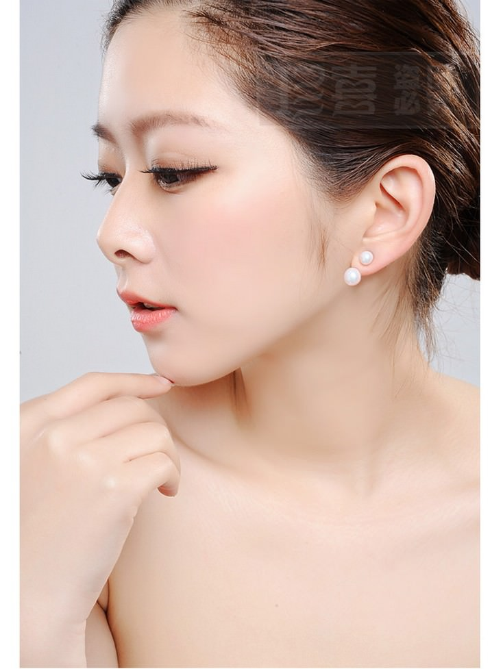 11586-89f8e17703cfb297c3807fe2e09bfd38 2016 Silver Crystal Ball Push Back Earring Jewelry