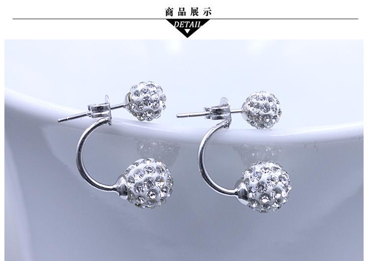 11586-ab516ab286f50b0e04a63f1ec324a747 2016 Silver Crystal Ball Push Back Earring Jewelry