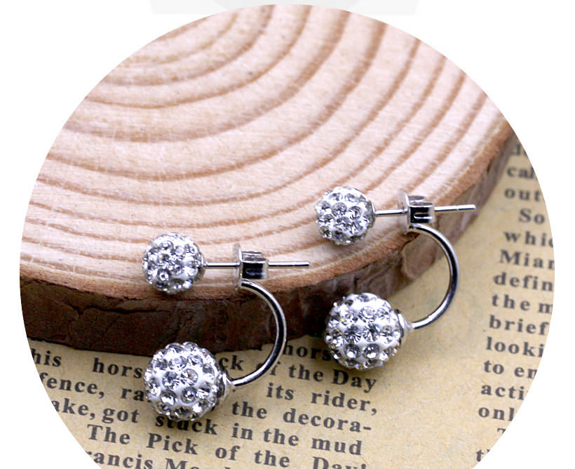 11586-e9750ffb8262742439d4deb14b9eb38a Silver Crystal Ball Push Back Earring Jewelry