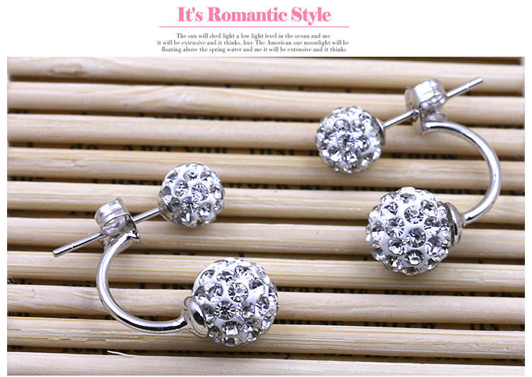 11586-f392b12a434af458373b566728988219 2016 Silver Crystal Ball Push Back Earring Jewelry