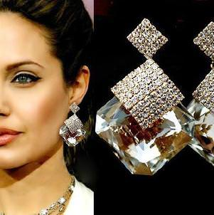 Luxury Square Crystal Drop Earring Jewelry For Women