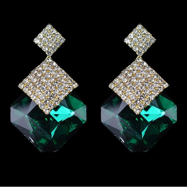 11589-43a84534d3ca17bcac8ad007cf46f116 Luxury Square Crystal Drop Earring Jewelry For Women