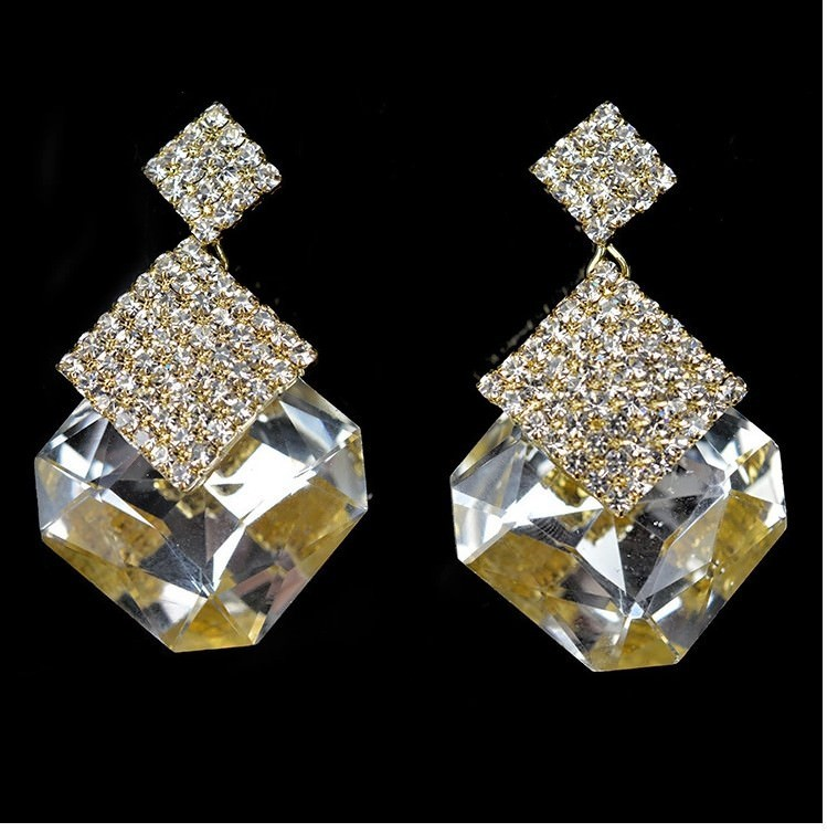 11589-d048c5a75a71c911ed127c81bd147ffa Luxury Square Crystal Drop Earring Jewelry For Women