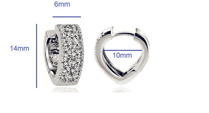 11593-385bf9842cbd02f07d24f9c9955ee160 Sophisticated Wedding Fashion Crystal Heart Huggie Earring Jewelry