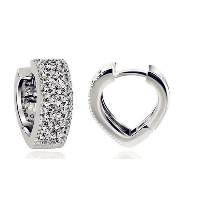 11593-438e6d22086f21195ddcb2dd3236a4e6 Sophisticated Wedding Fashion Crystal Heart Huggie Earring Jewelry