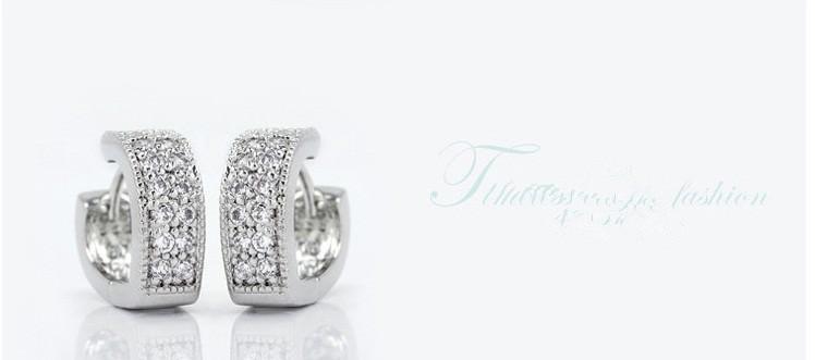 11593-546e5c3fed4836f6aafb230445582d5e Sophisticated Wedding Fashion Crystal Heart Huggie Earring Jewelry