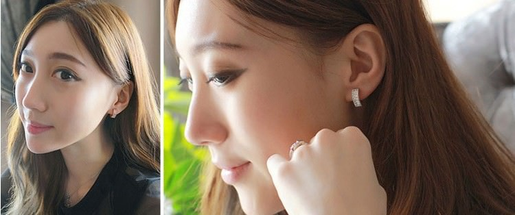 11593-58eeabd281f3b6bb3b4e9b37958cb2a1 Sophisticated Wedding Fashion Crystal Heart Huggie Earring Jewelry