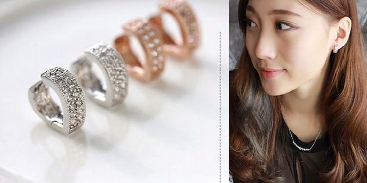 11593-74c6e8c33ad703cf84762a528f711716 Sophisticated Wedding Fashion Crystal Heart Huggie Earring Jewelry