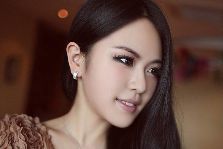 11593-c34f1ccddd91f7d3e2df5bf3c375b59b Sophisticated Wedding Fashion Crystal Heart Huggie Earring Jewelry