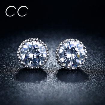 Fashion CC Cubic Zirconia Push Back Earring Jewelry