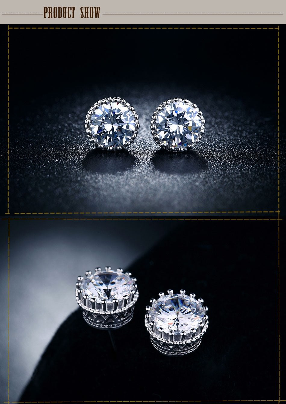 11595-b1a1172f8fbc884dc5e4374b036db82f Fashion Cubic Zirconia Push Back Earring Jewelry