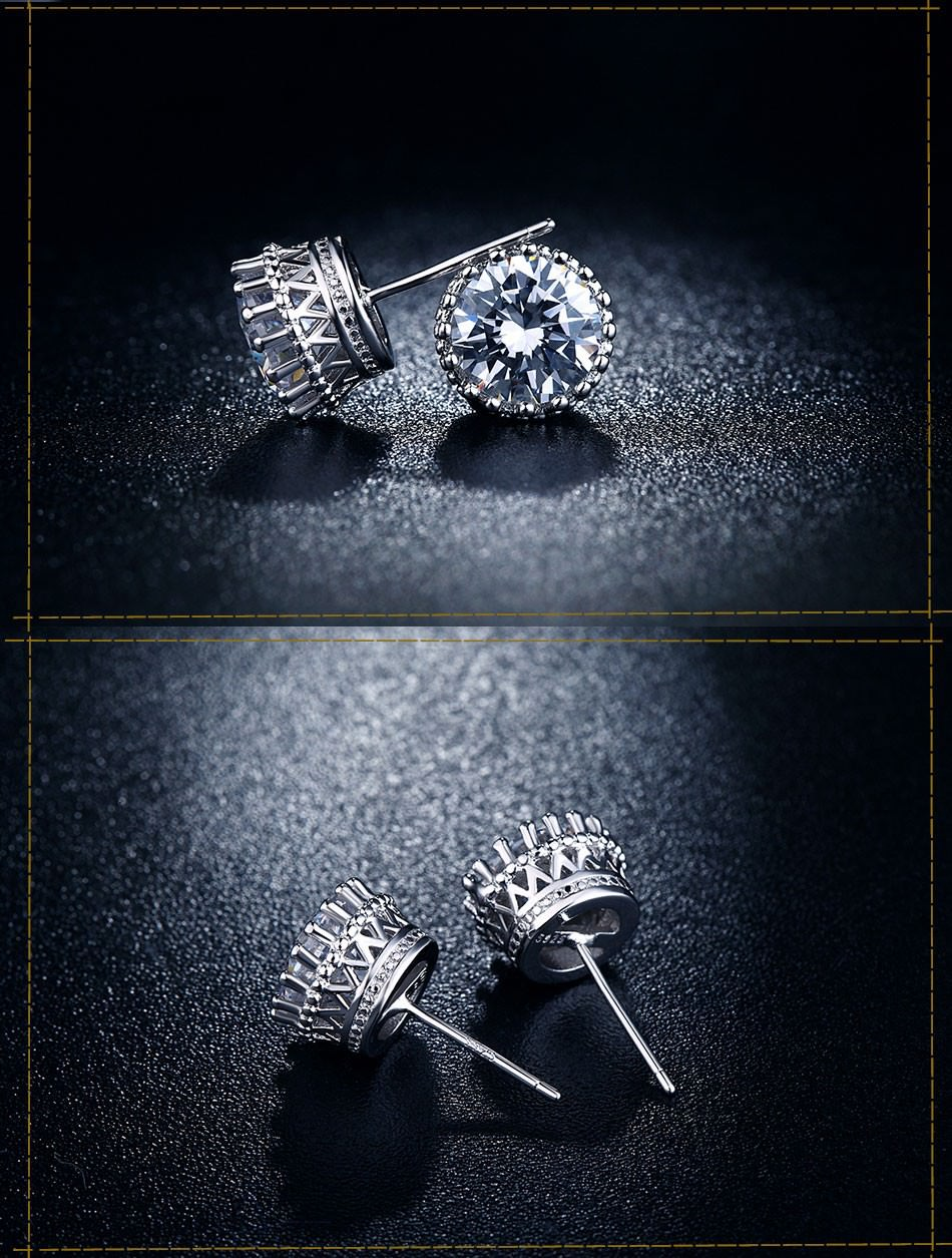11595-b79c3e66995a8aac2a5496d7edf33092 Fashion CC Cubic Zirconia Push Back Earring Jewelry