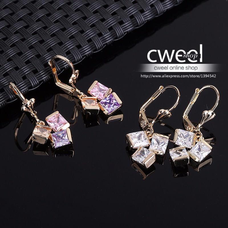 11596-a57f8b3720c2cc666c5330e9053a01f4 Cweel Crystal Lever Back Dangling Earring Jewelry