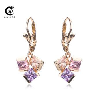 Cweel Crystal Lever Back Dangling Earring Jewelry