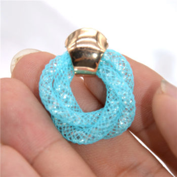 Stylish Crystal Mesh Push Back Earring Jewelry In Various Colors