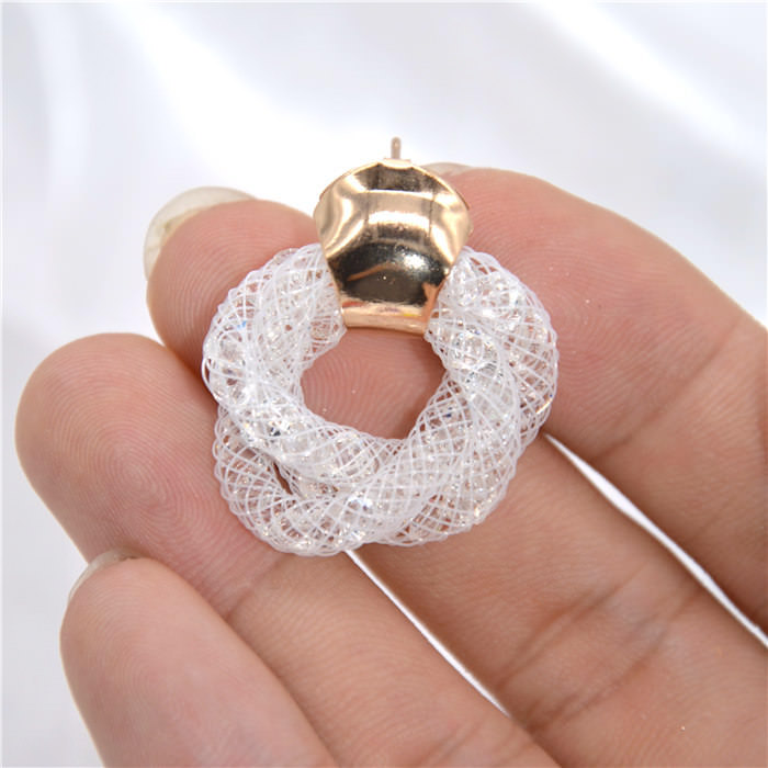 11598-37534a2a8ef8903aac4a25dbc2252860 Stylish Crystal Mesh Push Back Earring Jewelry In Various Colors