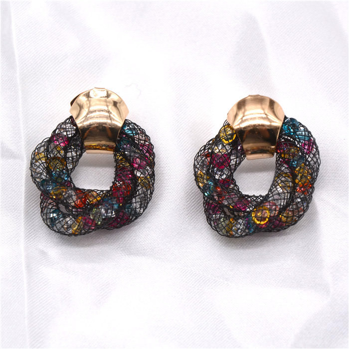 11598-606e8fd1cdfca4faa3db2c272ba835c7 Stylish Crystal Mesh Push Back Earring Jewelry In Various Colors