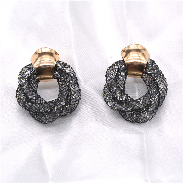 11598-a8d94f3654ebd991ae54dfbe8d010e6e Stylish Crystal Mesh Push Back Earring Jewelry In Various Colors