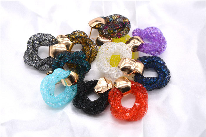 11598-c568bf13840a747ced3f22f3965cd55b Stylish Crystal Mesh Push Back Earring Jewelry In Various Colors