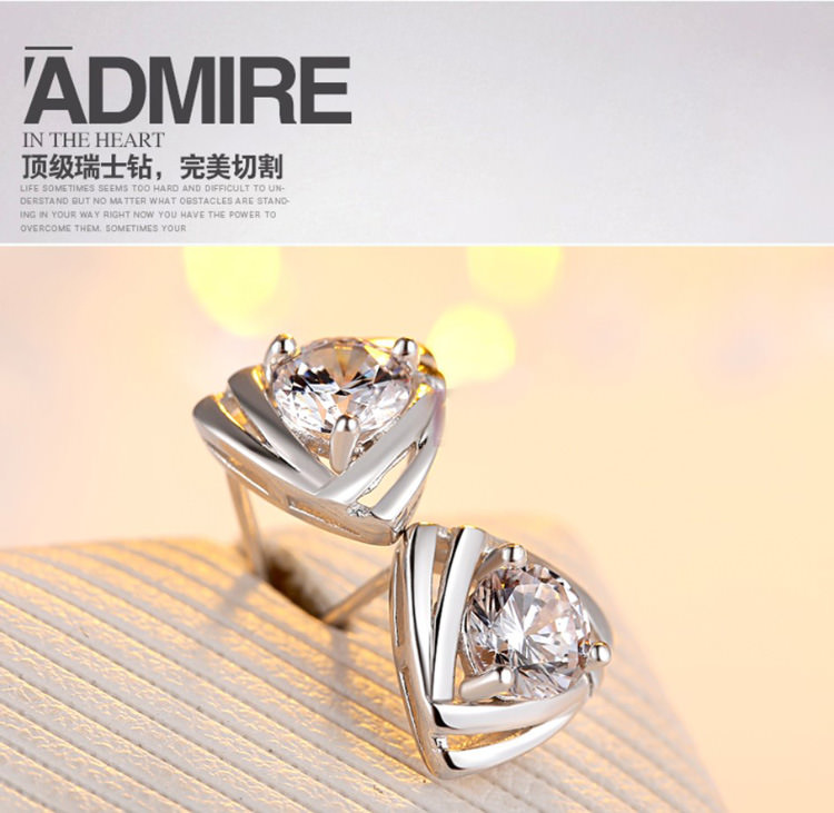 11599-5955ceb9ee634b1d7b996af28cbf6e4c Geometric Triangle Stud Earring Jewelry With Crystal Zircon