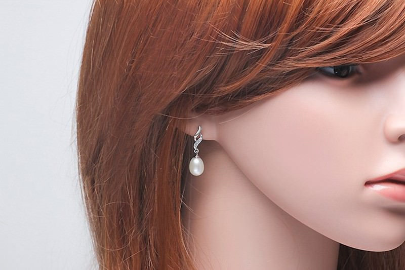 11600-5d1cce46a5c67afad72823f5c91044e6 Mother's Day Gift Natural Pearl Drop Stud Earring Jewelry