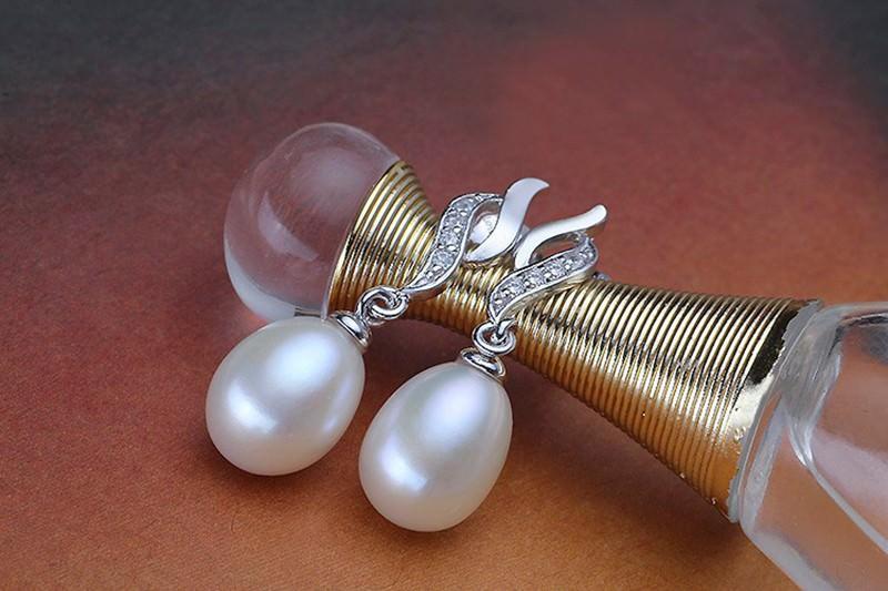 11600-6eed4fe9aac505484d0f6b970e9291f8 Mother's Day Gift Natural Pearl Drop Stud Earring Jewelry