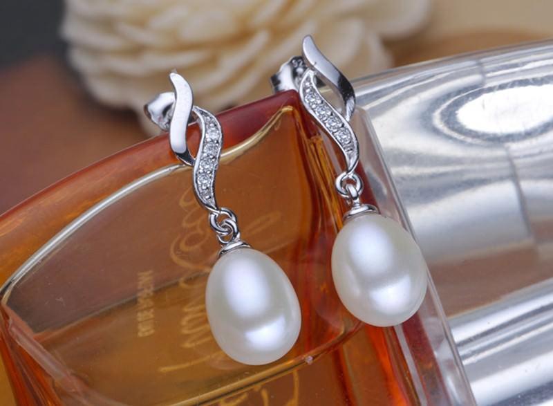 11600-b2cca0ee0b2043b2876f7d8dfe01d0a9 Mother's Day Gift Natural Pearl Drop Stud Earring Jewelry