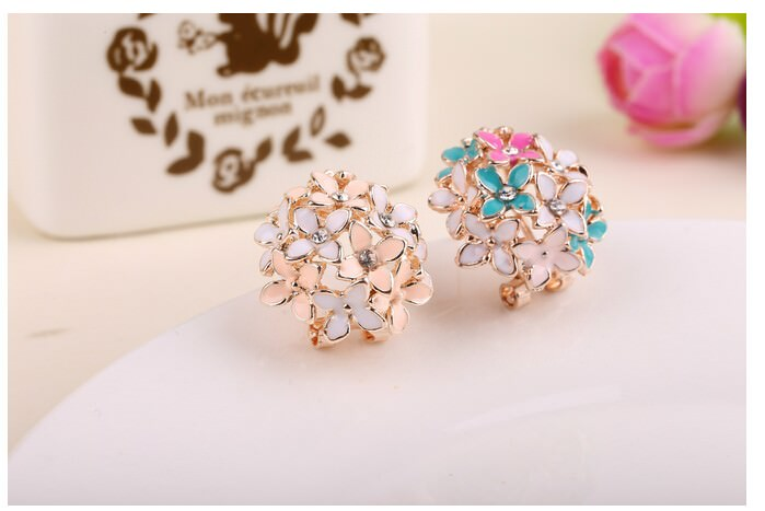 11601-93840b7d033de4ac19df4665b02ca76d Whimsical Floral Bouquet Lever Back Earring Jewelry