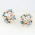 Whimsical Floral Bouquet Lever Back Earring Jewelry