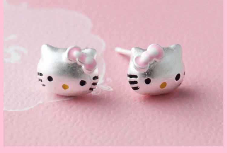 11603-7e05d0e9c870ab824180567c8ef2c01f Hello Kitty Fashion Sterling Silver Stud Earring Jewelry For Teens