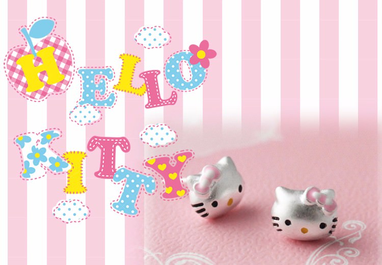 11603-f108b08991398e2a1e5902778529928b Hello Kitty Fashion Sterling Silver Stud Earring Jewelry For Teens