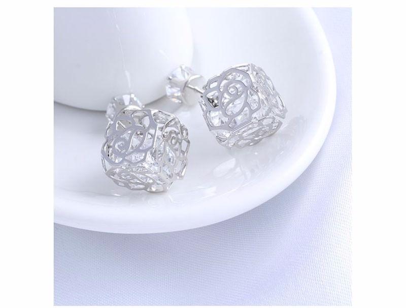11604-118b807b6664750e640b904d1ec03913 Trendy Double Sided Earring Jewelry With Rhinestone Diamonds
