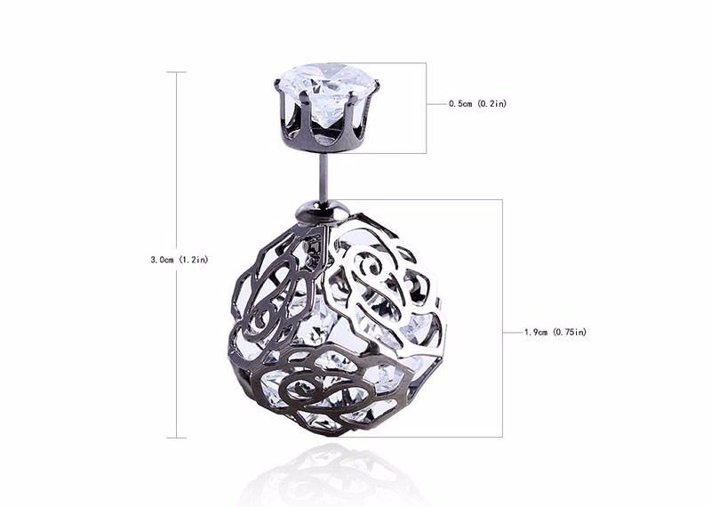 11604-2d972df352d47c589394bef7b26b2072 Trendy Double Sided Earring Jewelry With Rhinestone Diamonds