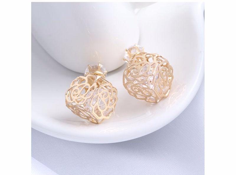 11604-8bac71d74ebb4d73b969408b04fd8962 Trendy Double Sided Earring Jewelry With Rhinestone Diamonds