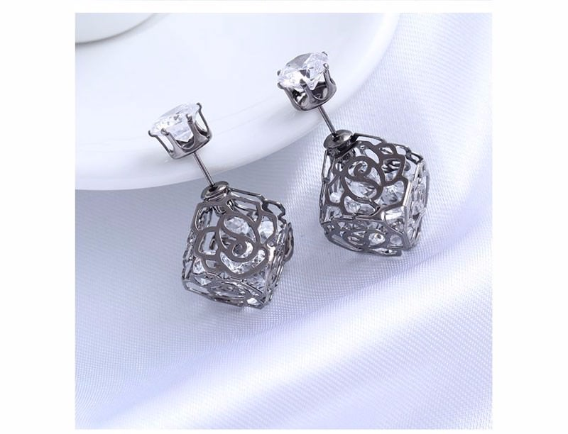 11604-a2e6005e56b95eb9ae5a1034f27b8db5 Trendy Double Sided Earring Jewelry With Rhinestone Diamonds