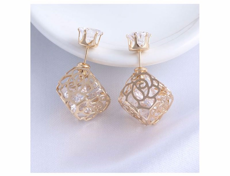 11604-d74d0d6311f54b65a49ecc3a332670a1 Trendy Double Sided Earring Jewelry With Rhinestone Diamonds