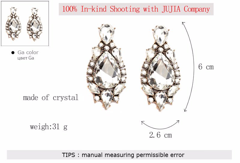 11605-3a141bbb78b1ba234cb77c4df41ce11b Classy Crystal Tear Drop Push Back Earring Jewelry