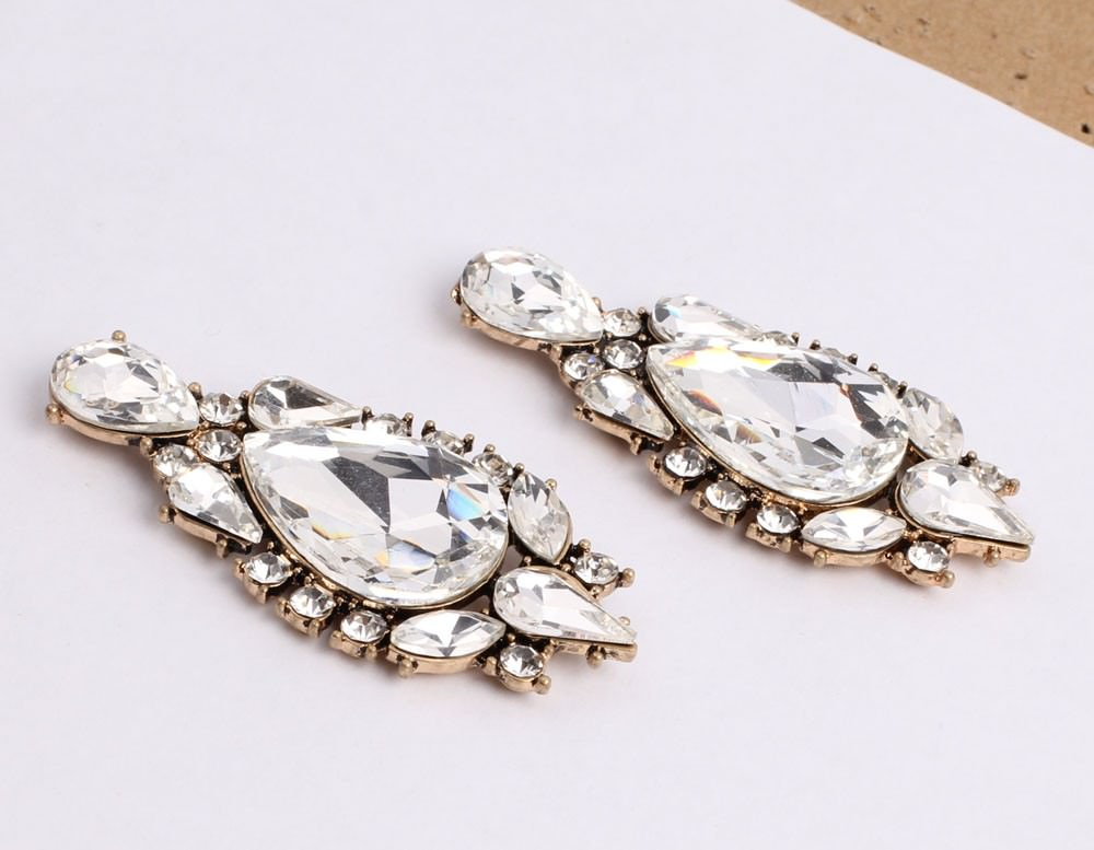 11605-5ab0f22ae123d4489fac109a2cdc1d7a Classy Crystal Tear Drop Push Back Earring Jewelry