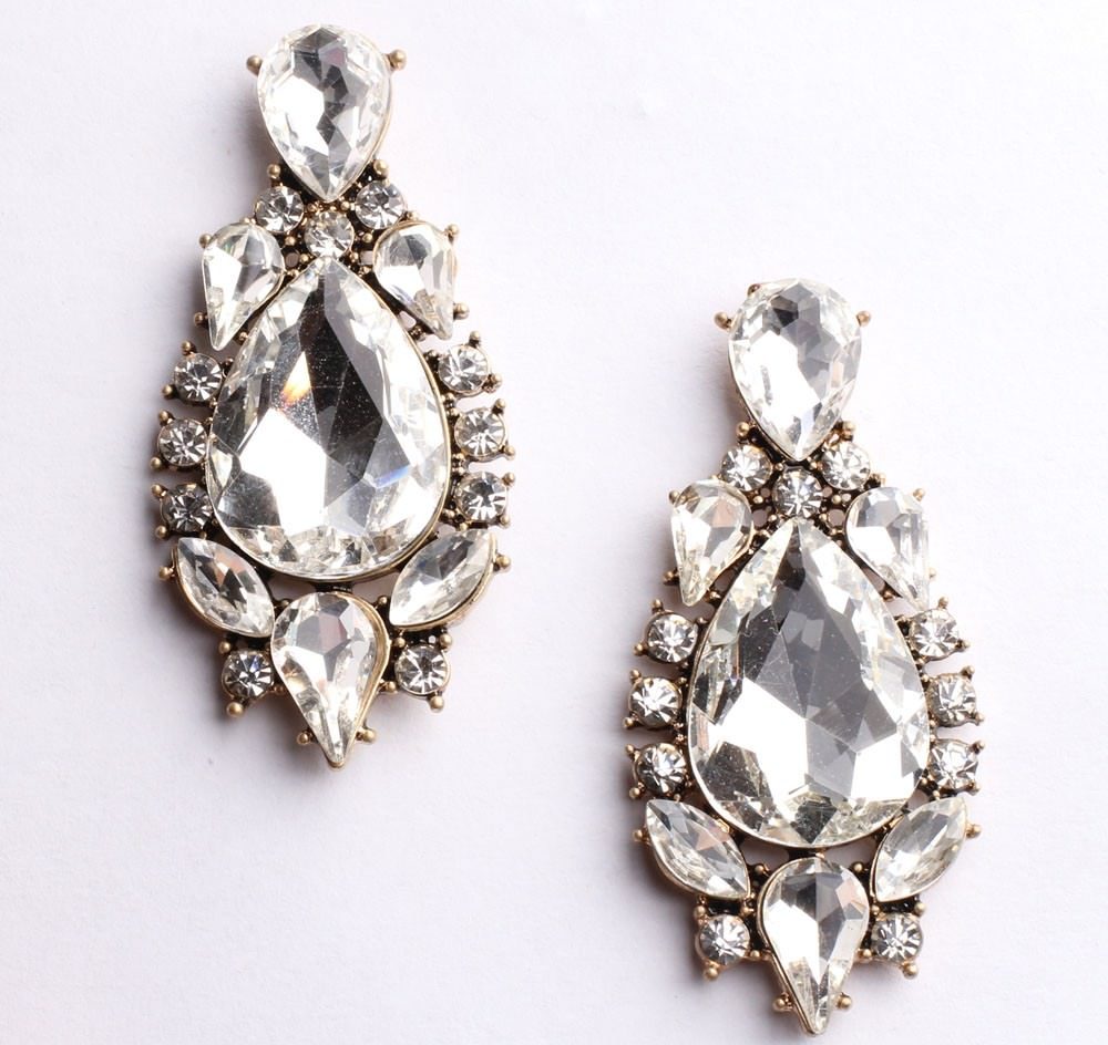 11605-f362414e9d5ee7ad92e2f0f29660fa1e Classy Crystal Tear Drop Push Back Earring Jewelry