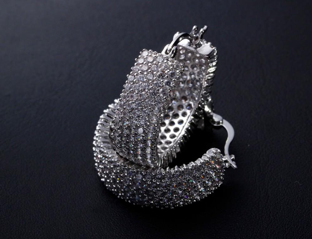 11607-258f1b84d9227ce1b4bb6588f139229e 28mm Rhinestone Encrusted Wedding Hoop Earring Jewelry