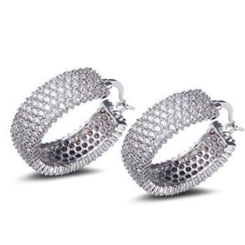 28mm Rhinestone Encrusted Wedding Hoop Earring Jewelry