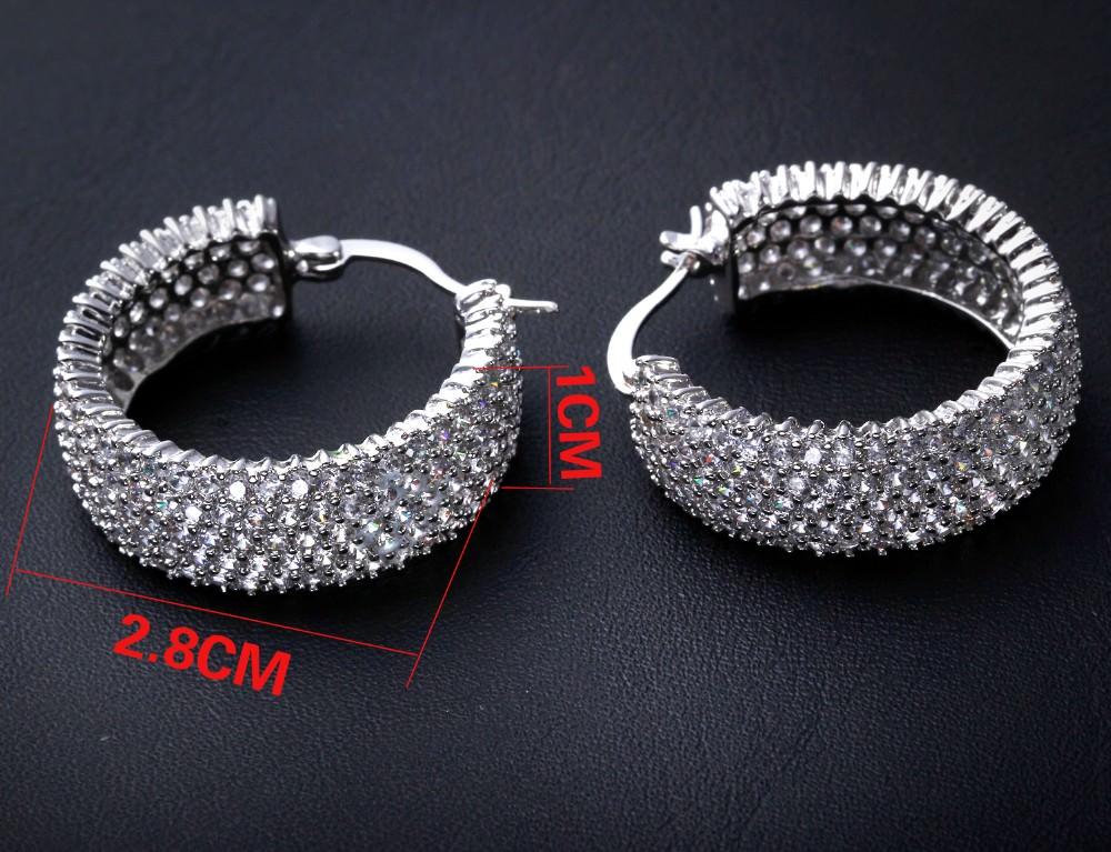 11607-8d06c5021c7d41d2c4c797df75e5d82c 28mm Rhinestone Encrusted Wedding Hoop Earring Jewelry