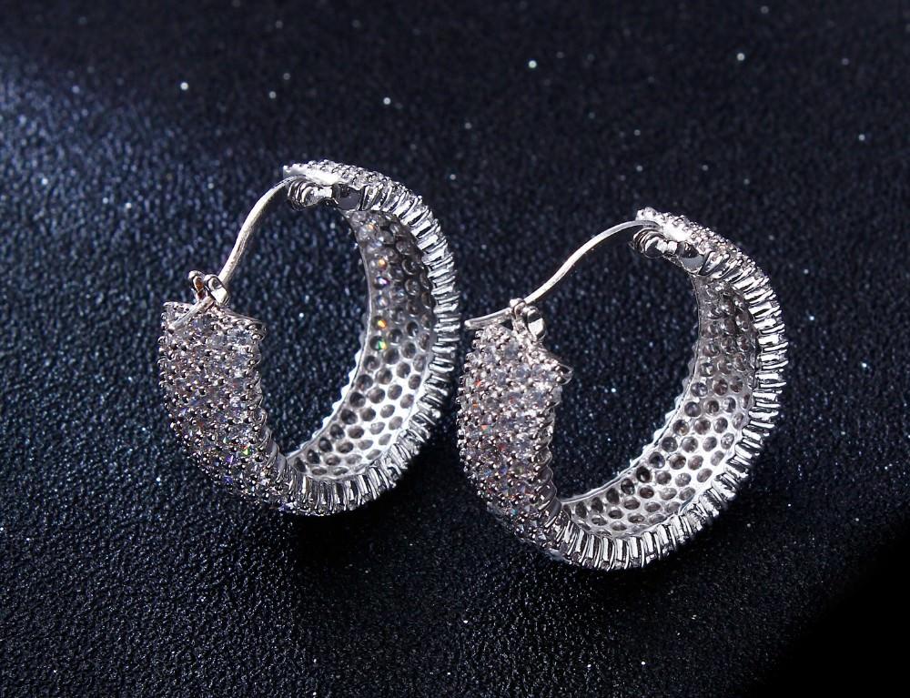 11607-b69421bd6aa02a0d2cbc516ef9d935eb 28mm Rhinestone Encrusted Wedding Hoop Earring Jewelry
