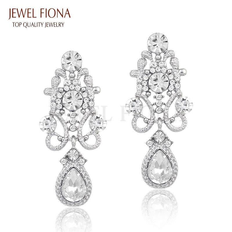 11610-6946551dc9c9630e2360f9bdd92043ad Fancy Gunmetal Chandelier Drop Earring Jewelry With Rhinestones