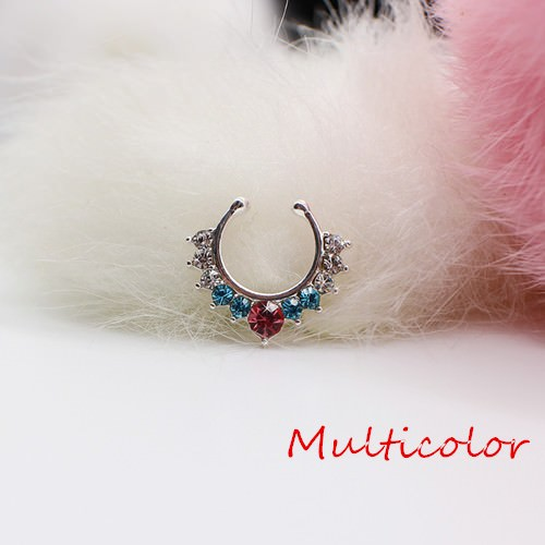 11613-6d9ce46225bb3284c35e608317c12d6d Detailed Costume Fake Septum Clicker With Rhinestone Crystals